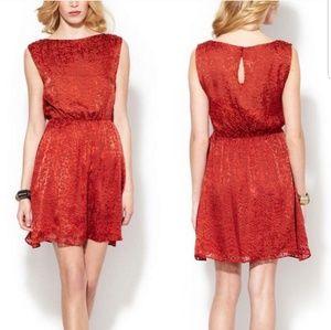 Alice + Olivia Annice Red Velvet Party Dress